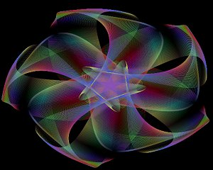 An image from one of HyperCurve's kaleidoscopic modes